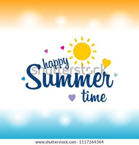 Happy summer greetings card light background stock vector 1117264364 happy summer greetings card with light background vector m4hsunfo