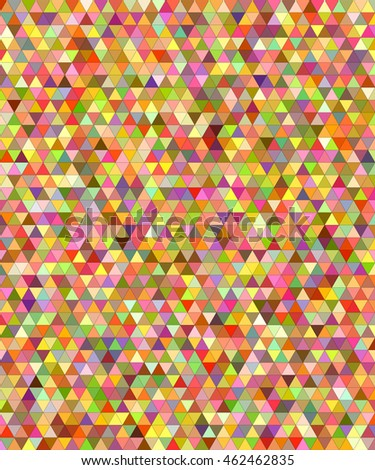 Happy summer triangle mosaic vector background design