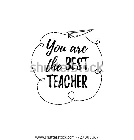 Happy Teachers Day Labels Greeting Card Stock Photo (Photo, Vector