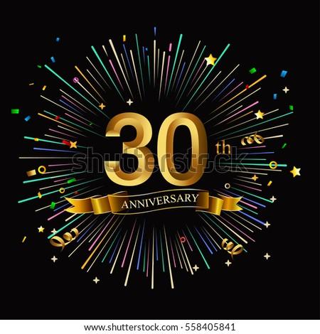 happy 30th anniversary banner