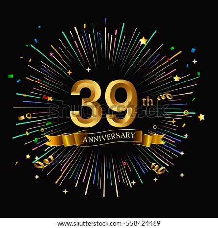39th anniversary stock images royalty free images