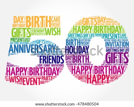 Happy Th Birthday Word Cloud Collage Stock Photo Photo Vector - Best of free clip art 50th anniversary design