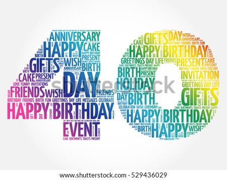 40 Birthday Images RoyaltyFree Images Vectors – Happy 40th Birthday Greetings