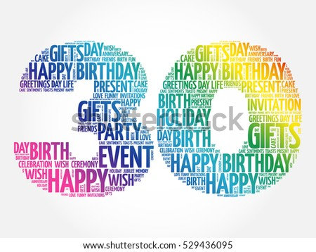 30th Birthday Stock Images Royalty Free Images Vectors Happy Birthday 30th Wishes