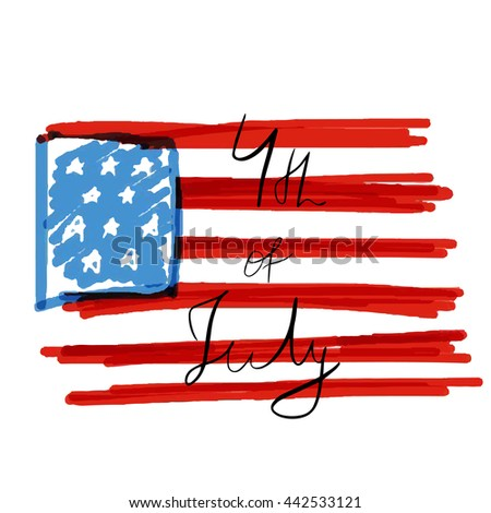 Happy 4th of July - Independence Day Vector Design   Fourth