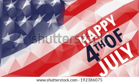 Happy 4th of july triangle background - stock vector