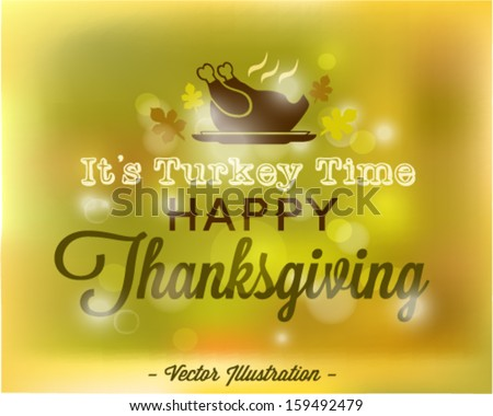 Happy Thanksgiving Abstract Vector Background in Vintage Style - stock vector