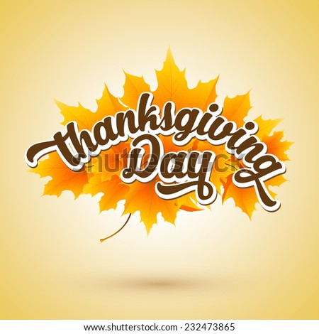 Happy Thanksgiving Background - stock vector