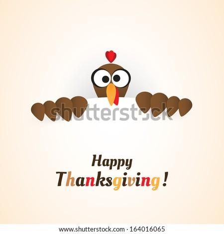 Happy Thanksgiving Card Design - stock vector
