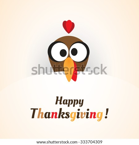 Happy Thanksgiving Card Design Template - stock vector