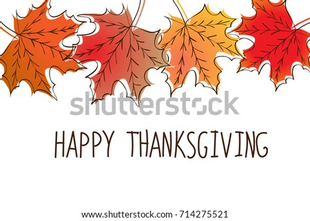 Happy Thanksgiving Card Template Red Yellow Stock Photo Photo - Thanksgiving card template