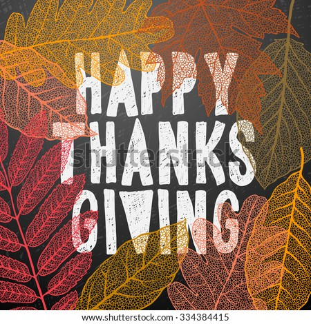 Happy Thanksgiving day, holiday background, vector illustration. - stock vector