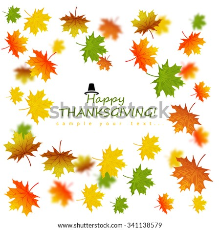 Happy Thanksgiving Day poster - stock vector
