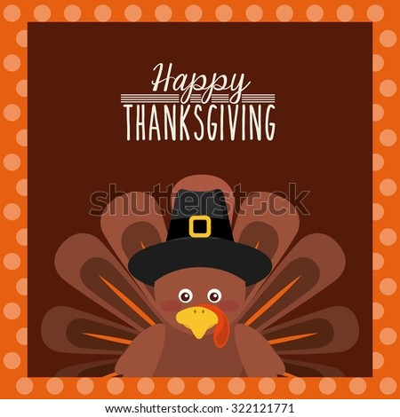 happy thanksgiving design, vector illustration eps10 graphic  - stock vector
