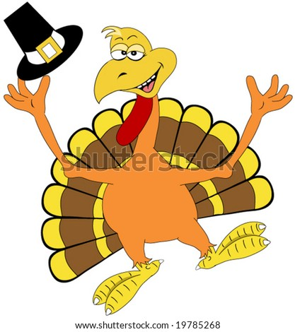 Happy Thanksgiving Turkey Vector. - stock vector