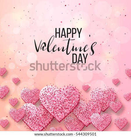 happy valentine day festive sparkle layout stock vector 544309501