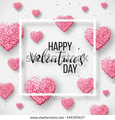 happy valentine day festive sparkle layout stock vector 544309627