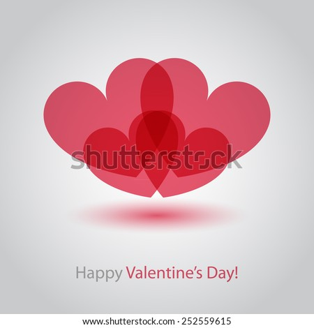 Happy Valentine's Day abstract heart design. - stock vector