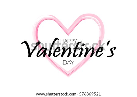 Happy Valentineu0027s Day Background. Holiday White And Pink Style Card Design  Concept. Vector Illusiration