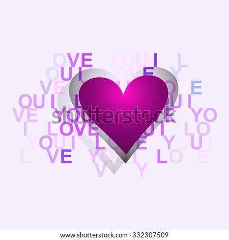 Happy valentine's day card for heart design - stock vector