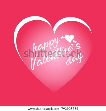 Happy Valentines Day Card Good Greeting Stock Vector 793908784 ...