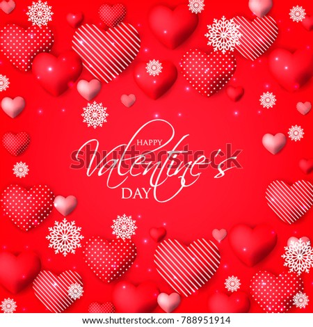 happy valentines day card invitation wedding card red hearts on red background