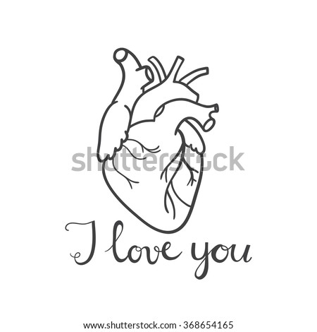 happy valentines day card with real heart and typography