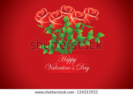Happy Valentine's day cards. Bouquet of red roses. Vectors - stock vector