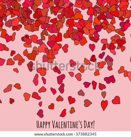 Happy Valentines Day Cover Love Greeting Stock Vector 373882345 ...