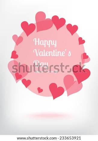 Happy valentine's day greeting - stock vector