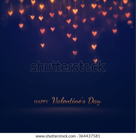 Happy Valentine's Day, greeting card, eps 10