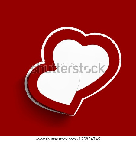 Happy Valentine's Day greeting card, gift card or greeting card with hearts and space for your message on maroon background. EPS 10.