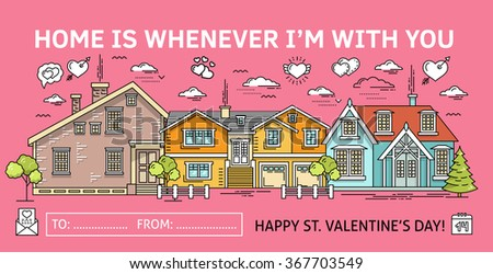 happy valentines day greeting card template unusual creative valentines day design concept quote typographic - Valentine Real Estate