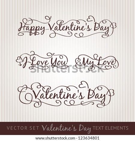 Happy valentine's day hand lettering. Scalable and editable vector illustration. - stock vector