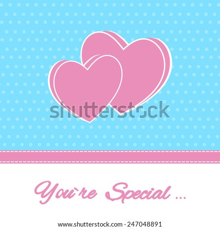 Happy Valentine's Day Lettering Greeting Card Illustration