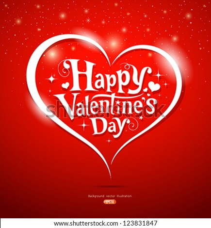 Happy Valentines Day Lettering Greeting Card Vector – Greeting Cards of Valentine Day