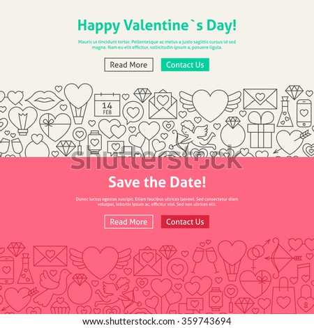 happy valentines day line art web stock vector 359743694, Ideas