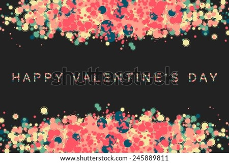 happy valentine's day or Wedding vector background with hearts. 10 eps - stock vector