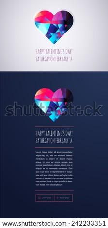 Happy Valentine's Day Posters - stock vector