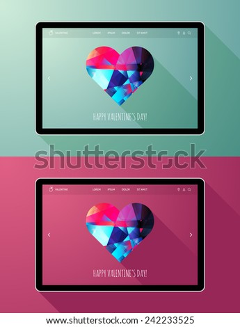 Happy Valentine's Day Posters - stock vector