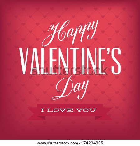 Happy Valentine's day text on special background - stock vector