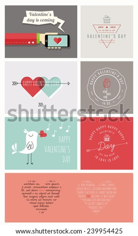 Happy Valentine's Day. Valentines Day design for poster, greeting card, flyer or what you need. 100% vector shape. Fully editable in Illustrator.  - stock vector