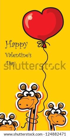 Happy Valentine's day, vector card - stock vector