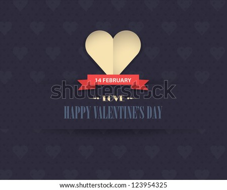 Happy Valentine's Day Vector Design - stock vector
