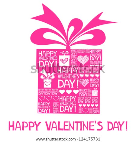 Happy valentine's day! Vintage Valentine's Day Card. Vector Illustration - stock vector