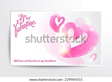 Happy valentines day and weeding cards. Vector - stock vector
