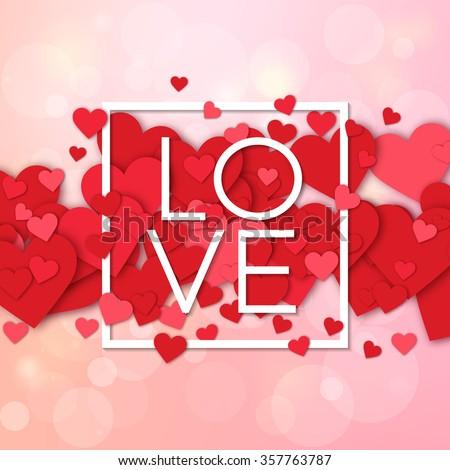 Happy Valentines Day Weeding Design Elements Stock Vector ...