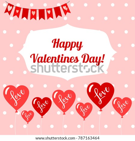 Happy Valentines Day Banner Typography Heading Stock Vector Royalty
