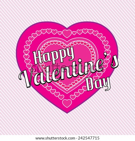 Happy Valentines day card illustration   - stock vector