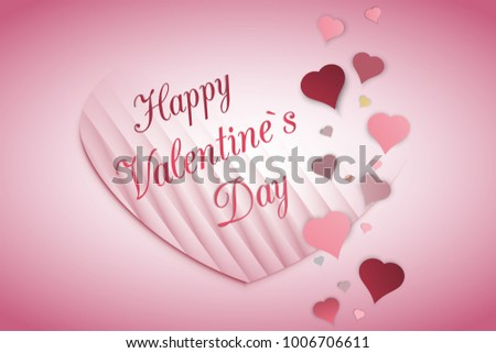 Happy Valentines Day Card Love Background Stock Vector 1006706611 ...